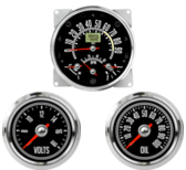 "5-1/2"" CJ GPS Speedometer Cluster 90mph with Tachometer- Speedo, Fuel Level, Temp, Tach 2-1/16"" CJ Oil Pressure Gauge 0-100psi 2-1/16"" CJ Volt Gauge 0-18V"