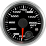 "2-1/16"" EGT Temp Gauge 200-2000F (w/ warning)"