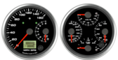 Dual Gauge - 160mph GPS Speedometer / 8K Tachometer (w/ turn signal and high beam) Quad Gauge - Oil psi, Water Temp, Fuel Level, Volts
