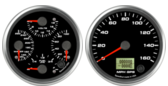 Quad Gauge - Oil psi, Water Temp, Fuel Level, Volts GPS Speedometer Gauge 160mph