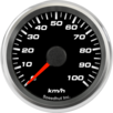 "2-5/8"" Speedometer Gauge 100km/h Metric programmable"