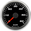 "2-5/8"" Speedometer Gauge 60km/h Metric programmable"