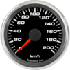 "2-5/8"" Speedometer Gauge 200km/h Metric programmable"
