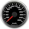 "2-5/8"" Speedometer Gauge 260km/h Metric programmable"