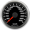 "2-5/8"" Speedometer Gauge 300km/h Metric programmable"