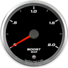 "3-3/8"" Boost Gauge 0-2bar Metric (w/ warning)"