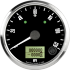 "3-3/8"" Freedom CAN-BUS Speedometer 120mph (w/ turn signal and high beam)"