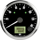 "3-3/8"" Freedom CAN-BUS Speedometer 140mph (w/ turn signal and high beam)"