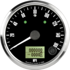 "3-3/8"" Freedom CAN-BUS Speedometer 160mph (w/ turn signal and high beam)"