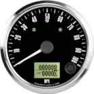 "3-3/8"" Freedom CAN-BUS Speedometer 100mph (w/ turn signal and high beam)"