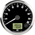 "3-3/8"" Freedom CAN-BUS Speedometer 100mph"