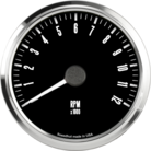 "3-3/8"" Freedom CAN-BUS Tachometer 12K RPM"