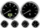 "4"" Freedom CAN-BUS Speedometer 120mph (w/ turn signal and high beam) 4"" Freedom CAN-BUS Tachometer 8K RPM 2-1/16"" Fuel Level Gauge (programmable) 2-1/16"" Freedom CAN-BUS Water Temp Gauge 120-260F 2-1/16"" Freedom CAN-BUS Oil Pressure Gauge 0-100psi (For GM vehicles only)"