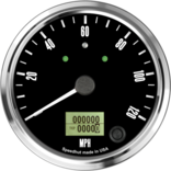 "4"" Freedom CAN-BUS Speedometer 120mph (w/ turn signal and high beam)"