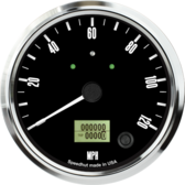 "4-1/2"" Freedom CAN-BUS Speedometer Gauge 120mph (w/ turn signal and high beam)"
