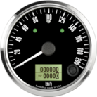 "3-3/8"" Freedom CAN-BUS Speedometer 200 km/h Metric (w/turn signal and high beam)"