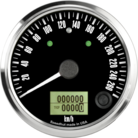 "3-3/8"" Freedom CAN-BUS Speedometer 260 km/h Metric (w/turn signal and high beam)"
