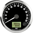 "3-3/8"" Freedom CAN-BUS Speedometer 260 km/h Metric"
