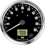 "4"" Freedom CAN-BUS Speedometer 200 km/h Metric (w/turn signal and high beam)"