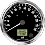 "4"" Freedom CAN-BUS Speedometer Gauge 260 km/h Metric (w/turn signal and high beam)"