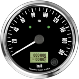 "4"" Freedom CAN-BUS Speedometer Gauge 180 km/h Metric (w/turn signal and high beam)"