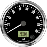"4"" Freedom CAN-BUS Speedometer Gauge 180 km/h Metric"