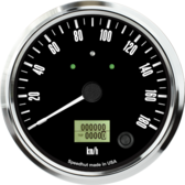 "4-1/2"" Freedom CAN-BUS Speedometer Gauge 180 km/h Metric (w/turn signal and high beam)"