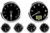 "3-3/8"" Freedom CAN-BUS Speedometer 120mph 3-3/8"" Freedom CAN-BUS Tachometer 8K RPM Shift-light 2-1/16"" Fuel Level Gauge (programmable) (w/ warning) 2-1/16"" Freedom CAN-BUS Water Temp Gauge 120-260F (w/ warning) 2-1/16"" Freedom CAN-BUS Oil Pressure Gauge 0-100psi (w/ warning) (For GM vehicles only) 2-1/16"" Freedom CAN-BUS Volt Gauge 0-18V (w/ warning)"