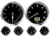 "4"" Freedom CAN-BUS Speedometer 120mph 4"" Freedom CAN-BUS Tachometer 8K RPM Shift-light 2-1/16"" Fuel Level Gauge (programmable) (w/ warning) 2-1/16"" Freedom CAN-BUS Water Temp Gauge 120-260F (w/ warning) 2-1/16"" Freedom CAN-BUS Oil Pressure Gauge 0-100psi (w/ warning) (For GM vehicles only) 2-1/16"" Freedom CAN-BUS Volt Gauge 0-18V (w/ warning)"