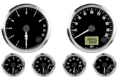 "3-3/8"" Freedom CAN-BUS Speedometer 200 km/h Metric 3-3/8"" Freedom CAN-BUS Tachometer 8K RPM Shift-light 2-1/16"" Fuel Level Gauge (programmable) (w/ warning) 2-1/16"" Freedom CAN-BUS Water Temp Gauge 50-125C Metric  (w/ warning) 2-1/16"" Freedom CAN-BUS Oil Pressure Gauge 0-7 bar (w/ warning) (For GM vehicles only) 2-1/16"" Freedom CAN-BUS Volt Gauge 0-18V (w/ warning)"