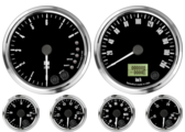 "4"" Freedom CAN-BUS Speedometer 200 km/h Metric 4"" Freedom CAN-BUS Tachometer 8K RPM Shift-light 2-1/16"" Fuel Level Gauge (programmable) (w/ warning) 2-1/16"" Freedom CAN-BUS Water Temp Gauge 50-125C Metric  (w/ warning) 2-1/16"" Freedom CAN-BUS Oil Pressure Gauge 0-7 bar (w/ warning) (For GM vehicles only) 2-1/16"" Freedom CAN-BUS Volt Gauge 0-18V (w/ warning)"