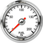 "2-1/16"" Fuel Pressure Gauge 0-200psi"