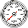"2-1/16"" Water Temp Gauge 120-260F"