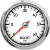 "2-5/8"" Boost Gauge 0-60psi"