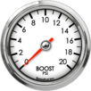 "2-5/8"" Boost Gauge 0-20psi"
