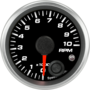 "2-1/16"" Tachometer 10K RPM Internal Shift-light"