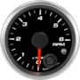 "2-1/16"" Tachometer 6K RPM Internal Shift-light"