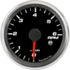 "2-5/8"" Tachometer 6K RPM Internal Shift-light"