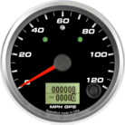 "3-3/8"" GPS Speedometer 120mph (w/ turn signal and high beam)"