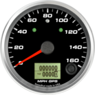 "3-3/8"" GPS Speedometer 160mph (w/ turn signal and high beam)"