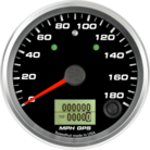 "3-3/8"" GPS Speedometer 180mph (w/ turn signal and high beam)"