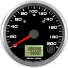 "3-3/8"" GPS Speedometer 200mph (w/ turn signal and high beam)"