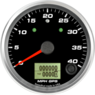 "3-3/8"" GPS Speedometer 40mph (w/ turn signal and high beam)"