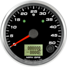 "3-3/8"" GPS Speedometer 50mph (w/ turn signal and high beam)"