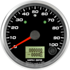 "3-3/8"" GPS Speedometer 100mph (w/ turn signal and high beam)"