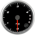 "3-3/8"" Tachometer 4K RPM Shift-light"
