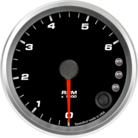 "3-3/8"" Diesel Tachometer 6K RPM Shift-light"