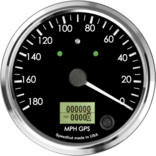 "4"" GPS Speedometer 180mph (Counter Clockwise with turn signals and high beam)"