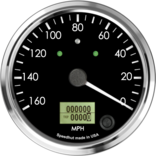 "4"" Speedometer 160mph programmable (Counter Clockwise with Turn Signals and High Beam)"