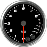 "4"" Tachometer 8K RPM Shift-light"
